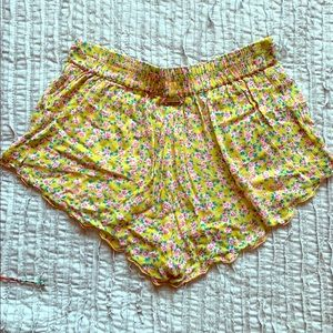 Billabong floral flowy shorts